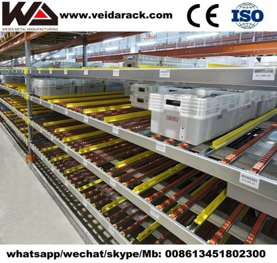 Warehouse Gravity Feed Shelving System