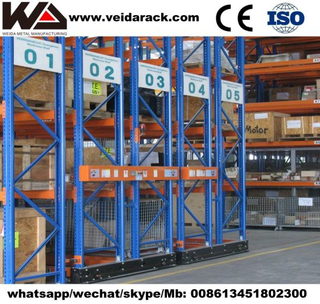 Warehouse Rolling Track Shelving Systems